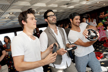 Tyler Hoechlin Tyler Posey Nintendo Lounge at Comic-Con