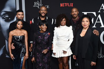 """Tyler Perry Bresha Webb Tyler Perry's """"A Fall From Grace"""" New York Premiere"""