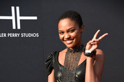 China Anne McClain attends Tyler Perry Studios grand opening gala at Tyler Perry Studios on October 05, 2019 in Atlanta, Georgia.