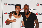 Tyson Beckford and Barry Southgatepose at the Monster Headphones Launch Party at The Ivy on November 6, 2013 in Sydney, Australia.