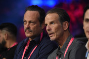 Actor Vince Vaughn (L) and director Peter Berg attend the Tyson Fury and Otto Wallin heavyweight bout at T-Mobile Arena on September 14, 2019 in Las Vegas, Nevada.