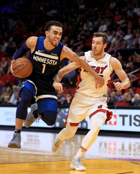 138a94abe5 Tyus Jones Photos Photos - Minnesota Timberwolves v Miami Heat - Zimbio