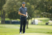 Justin Rose of England waits on a green during a practice round prior to the 120th U.S. Open Championship on September 15, 2020 at Winged Foot Golf Club in Mamaroneck, New York.