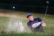 Steve Marino plays from a bunker on the second hole during the first round of the 110th U.S. Open at Pebble Beach Golf Links on June 17, 2010 in Pebble Beach, California.
