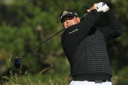 Jason Gore watches his tee shot on the second hole during the first round of the 110th U.S. Open at Pebble Beach Golf Links on June 17, 2010 in Pebble Beach, California.