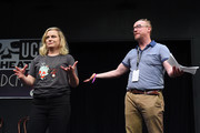 Amy Poehler and Matt Walsh attend the UCB's 20th Annual Del Close Improv Marathon Press Conference at UCB Theatre on June 29, 2018 in New York City.