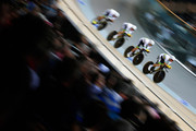 Jack Bobridge, Alexander Edmondson, Mitchell Mulhern and Miles Scotson of Autralia compete in the Mens Team Pursuit Qualifying round during day 1 of the UCI Track Cycling World Championships held at National Velodrome on February 18, 2015 in Paris, France.