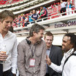 Christian Karembeu and Edwin van der Sar