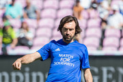 Andrea Pirlo warms up before the UEFA Match for Solidarity at Stade de Geneva on April 21, 2018 in Geneva, Switzerland.