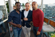 (L-R) Actors Arnold Ocegn, Jason Maza and Noel Clarke attend the We Are UK Film Party at TIFF 2016 at The Spoke Club on September 12, 2016 in Toronto, Canada.