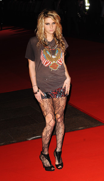 Kesha attends the 'This Is It' UK film premiere at the Odeon Leicester Square on October 27, 2009 in London, England.