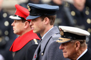 (L-R) Prince Andrew, Duke of York, Prince William, Duke of Cambridge and Prince Philip, Duke of Edinburgh attend the annual Remembrance Sunday Service at the Cenotaph on Whitehall on November 9, 2014 in London, United Kingdom. People across the UK gather to pay tribute to service personnel who have died in the two World Wars and subsequent conflicts, with this year taking on added significance as it is the centenary of the outbreak of World War One.