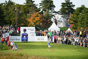 So Yeon Ryu of South Korea hits a tee shot on the 17th hole during the Singles match against Lexi Thompson of the United States on day four of the UL International Crown at Jack Nicklaus Golf Club on October 7, 2018 in Incheon, South Korea.