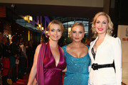(L-R) Tina Ruland, Regina Halmich and Elna-Margret zu Bentheim attend the 21st UNESCO Charity Gala 2012 on October 27, 2012 in Dusseldorf, Germany.