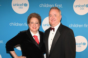 CEO & President UNICEF USA Caryl Stern (L) and honoree and UNICEF Children First Award recipient Kimberly-Clark Corp CEO Thomas Falk at the UNICEF Gala at The Ritz-Carlton, Dallas on February 3, 2018 in Dallas, Texas.