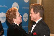 CEO & President UNICEF USA Caryl Stern (L) and honoree and Global Philanthropist Award recipients actor Rob Lowe at the UNICEF Gala at The Ritz-Carlton, Dallas on February 3, 2018 in Dallas, Texas.