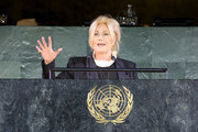 Deborra-Lee Furness speaks onstage during UNICEF Goodwill Ambassadors David Beckham and Millie Bobby Brown Headline UN Summit To Demand Rights For Every Child On World Children's Day 2019 on November 20, 2019 in New York City.