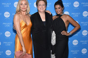 Sienna Miller, UNICEF USA CEO & President Caryl Stern, and Purvi Padia attend the Launch of UNICEF's Project Lion at The Highline Hotel on May 30, 2018 in New York City.