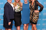(L-R) President and CEO of the US Fund for UNICEF Caryl M. Stern, CEO of the Home Shopping Network Mindy Grossman, UNICEF author Hilary Gumbel and chef Donatella Arpaia attend UNICHEF Book Party at The Lamb's Club on September 15, 2014 in New York City.
