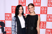 UNIQLO, Nina Agdal (R) and Leigh Lezark Celebrate Store Opening with VIP Event at Hudson Yards, NYC on March 14, 2019 in New York City.