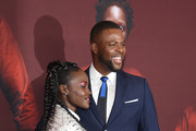 """Lupita Nyong'o and Winston Duke attend the """"US"""" premiere at Museum of Modern Art on March 19, 2019 in New York City."""