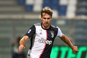 Aaron Ramsey of Juventus FC in action during the Serie A match between US Sassuolo and Juventus at Mapei Sadium - Citta del Tricolore on July 15, 2020 in Reggio nell'Emilia, Italy.