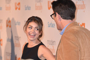 "Actors Sarah Hyland and Ty Burrell attend USA Network's ""Modern Family"" fan appreciation day at Westwood Village on October 28, 2013 in Los Angeles, California."
