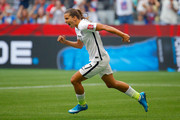 Tobin Heath #17 of the United States celebrates scoring in the second half against Japan in the FIFA Women's World Cup Canada 2015 Final at BC Place Stadium on July 5, 2015 in Vancouver, Canada.