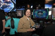 Geoffrey Arend playing Starlink: Battle for Atlas during E3 2018 at Los Angeles Convention Center on June 13, 2018 in Los Angeles, California.