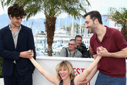 Actor Louis Garrel, director Valeria Bruni Tedeschi and actor Filippo Timi attend the 'Un Chateau En Italie' Photocall during The 66th Annual Cannes Film Festival at the Palais des Festivals on May 21, 2013 in Cannes, France.