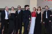 (L-R) Andre Wilms, Celine Sallette, Xavier Beauvois, Louis Garrel,  Marisa Borini, Valeria Bruni Tedeschi and Filippo Timi attend the premiere for 'Un Chateau en Italie' during the 66th Annual Cannes Film Festival at Palais des Festivals on May 20, 2013 in Cannes, France.