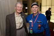 WWII veterans John Thompson and Harold Hall attend a private screening of Unbroken at The National World War I Museum on December 16, 2014 in Kansas City, Missouri.
