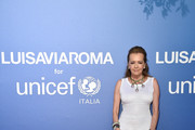 Caroline Scheufele attends the photocall at the Unicef Summer Gala Presented by Luisaviaroma at  on August 09, 2019 in Porto Cervo, Italy.