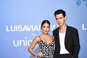 Vanessa Hudgens and Austin Butler attend the photocall at the Unicef Summer Gala Presented by Luisaviaroma at  on August 09, 2019 in Porto Cervo, Italy.