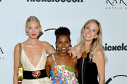 Elsa Hosk, Andrea Powell and guest attends Unitas Third Annual Gala Against Human Trafficking at Capitale on September 12, 2017 in New York City.