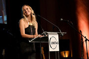 Andrea Powell speaks onstage during Unitas Third Annual Gala Against Human Trafficking at Capitale on September 12, 2017 in New York City.