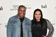 """Vin Rock from Naughty By Nature and Cheryl James, AKA """"Salt"""" from Salt-n-Pepa, attend a screening of """"United Skates"""" during the 2018 Tribeca Film Festival at Cinepolis Chelsea on April 19, 2018 in New York City."""