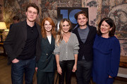 (L-R) George MacKay, Krysty Wilson-Cairns, Sarah Jessica Parker, Dean-Charles Chapman, and Pippa Harris attend a special screening of '1917', hosted by Sarah Jessica Parker and presented by Universal Pictures and DreamWorks Pictures on December 15, 2019 in New York City.