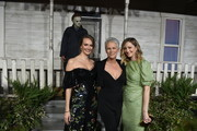 """(L-R) Andi Matichak, Jamie Lee Curtis and Judy Greer attend the Universal Pictures' """"Halloween"""" premiere at TCL Chinese Theatre on October 17, 2018 in Hollywood, California."""