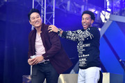 Sung Kang and Ludacris speak onstage during Universal Pictures Presents The Road To F9 Concert and Trailer Drop on January 31, 2020 in Miami, Florida.