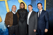 Ron Meyer, Jennifer Hudson, Jeff Shell and Mike Knobloch attend The World Premiere of Cats, presented by Universal Pictures on December 16, 2019 in New York City.