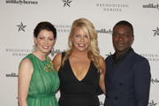 Jessica Oyelowo, Erica Greve and David Oyelowo pose for a photo at the Unlikely Heroes 6th Annual Recognizing Heroes Charity Benefit  at The Ritz-Carlton, Dallas on October 27, 2018 in Dallas, Texas.