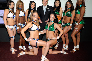 Jackie Savitt Unveiling Of 2011 Lingerie Bowl Official Game Uniforms