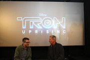 """Executive producer/director Charlie Bean (L) and  actor Bruce Boxleitner attend the Unveiling Of Disney XD's """"TRON: Uprising"""" Theatre On Wheels At Hollywood & Highland on May 26, 2012 in Hollywood, California."""