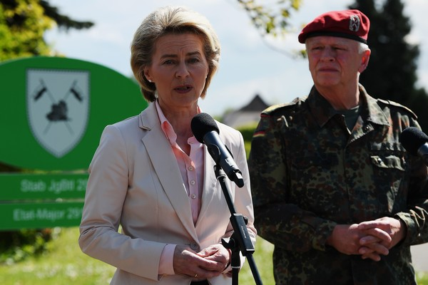 German Defence Minister Ursula von der Leyen Visits Army Facilities of the 291st Jagerbataillon