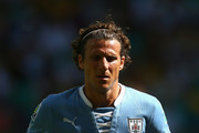 Diego Forlan of Uruguay in action during the FIFA Confederations Cup Brazil 2013 3rd Place match between Uruguay and Italy at Estadio Octavio Mangabeira (Arena Fonte Nova Salvador) on June 30, 2013 in Salvador, Brazil.