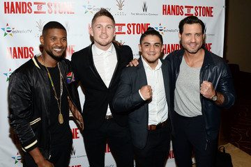 Usher Jason Quigley The Weinstein Company's 'Hands of Stone' Special Screening Hosted at The Grove in Los Angeles