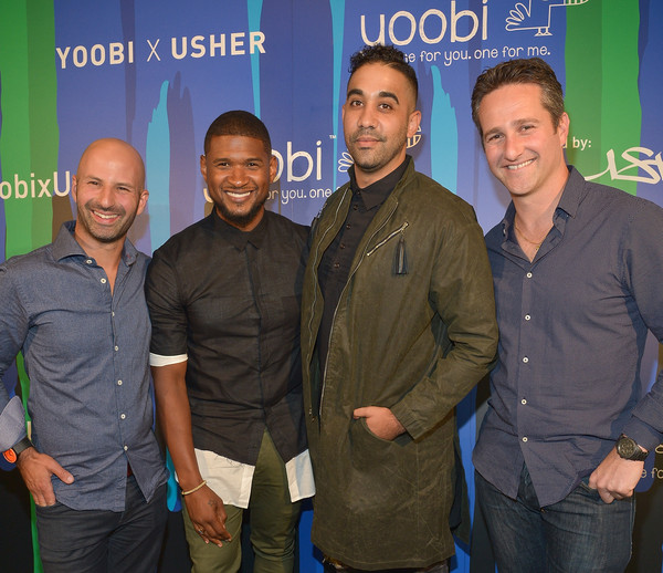 Usher and lance kalish photos photos guests attend the yoobi x guests attend the yoobi x usher vip launch event m4hsunfo