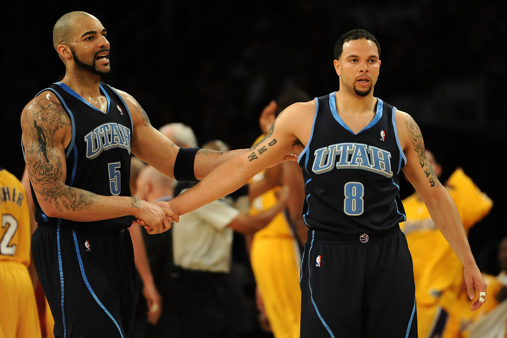 Carlos Boozer and Deron Williams Photos Photos - Utah Jazz ...