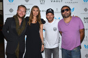 Michael Lillelund, Christina Sands, Steven Dorff and Vikram Chatwal attend the V.A.U.L.T. Art Basel Party on December 6, 2012 in Miami, Florida.